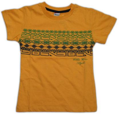 Футболка д/м, желтый, р.8 лет (86475)