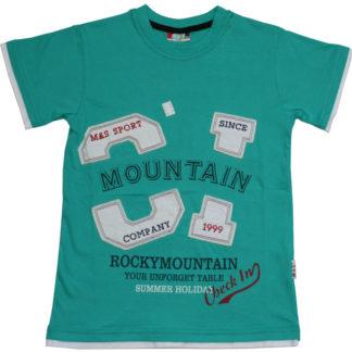 Футболка д/м «mountain», бирюза р.9-10,10-11,11-12 лет