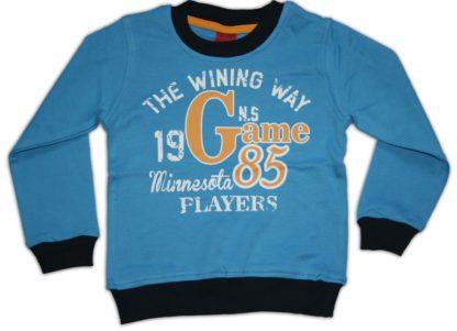 Реглан «Game 85» д/м голубо-синий,р.98 (740)