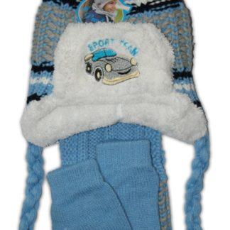 Шапка+шарф+варежки, голубой, (94878)