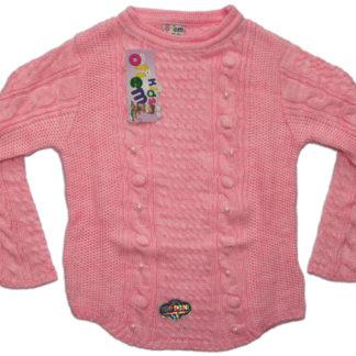 Свитер для девочки, розовый, р.3,4,5лет (203977)