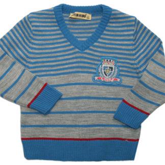 Свитер для мальчика, голубо-серый, р86/98(93193)