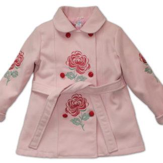 Пальто для девочки, розовый, р.104,110 (7016) Деньчик