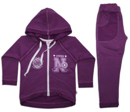 Спортивный костюм для девочки, сиреневый, р.98, тм Фламинго
