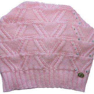 Шапка девочки ,розовая, р.50-52
