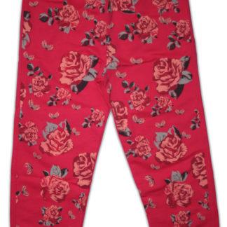 Спортивные штаны «Розы» для девочки, малиновый р.104/116, Deniz