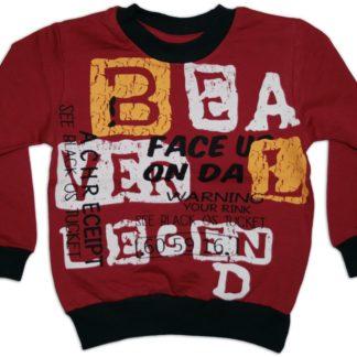 Реглан для мальчика «BEA», бордовый, р.98, Deniz