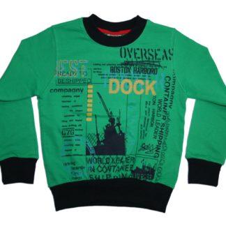 Реглан для мальчика «Dock»,зеленый, р.104, Deniz
