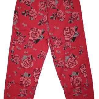 Спортивные штаны «Розы» для девочки, коралл, р.104,116,122 Deniz