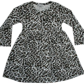 Платье для девочки «Леопард», коричнево-белый, р.86/122 Deniz