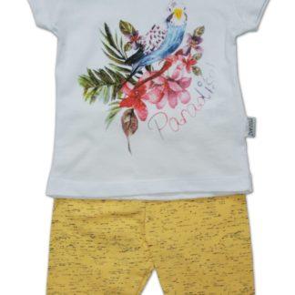 Костюм для девочки «Попугай», бело-желтый, р.80 (200072)