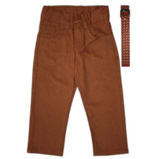 Брюки для мальчика, коричневый, р.98/122 (221848)