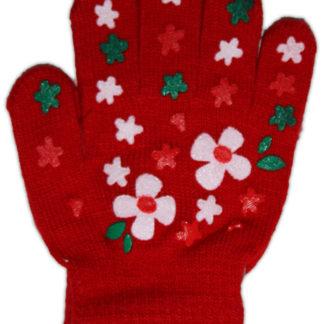 Перчатки для девочки, красный, р,4-6лет (228252)