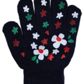 Перчатки для девочки, синий, р,4-6лет (228252)