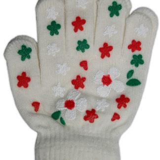 Перчатки для девочки, белый, р,4-6лет (228252)