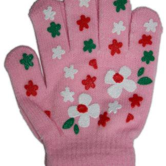 Перчатки для девочки, розовый, р,4-6лет (228252)
