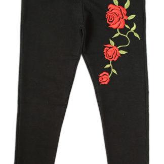 Лосины для девочки роза», черный, р.134(225844)