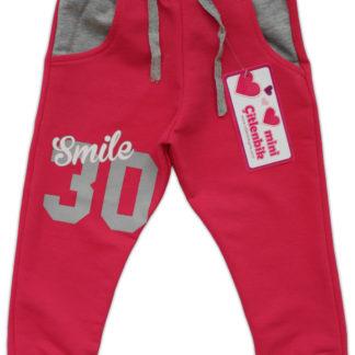 Спортивные штаны для девочки «30», малиновый, р,92/110 (228531)