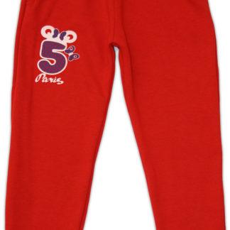 Спортивные штаны «5» (начес), красный, р,134/152 (231275)