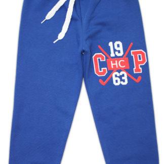 Спортивные штаны «1963» для мальчика (начес), синий р,116/140 (231380)
