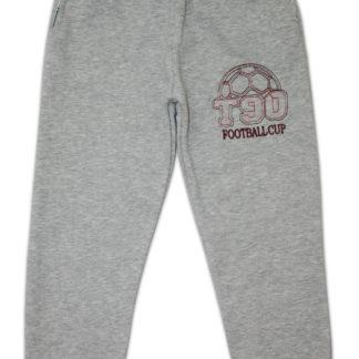 Спортивные штаны «Мяч» для мальчика (начес), серый р,134,140 (231273)