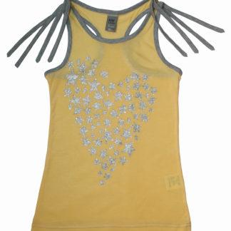 Майка для девочки, желтый, р.98,104,116 (33182) NJW