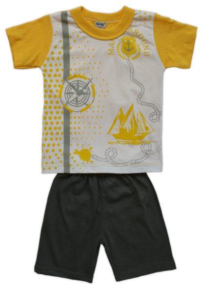 Костюм «Парусник» для мальчика, желтый, р.86/98 (239975)